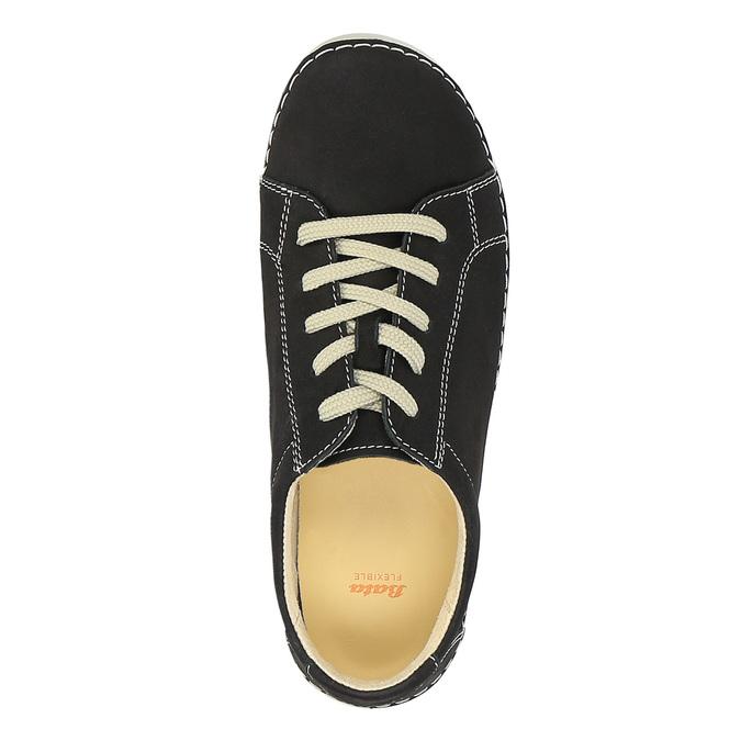 Kožené ležérne tenisky flexible, čierna, 526-6603 - 19