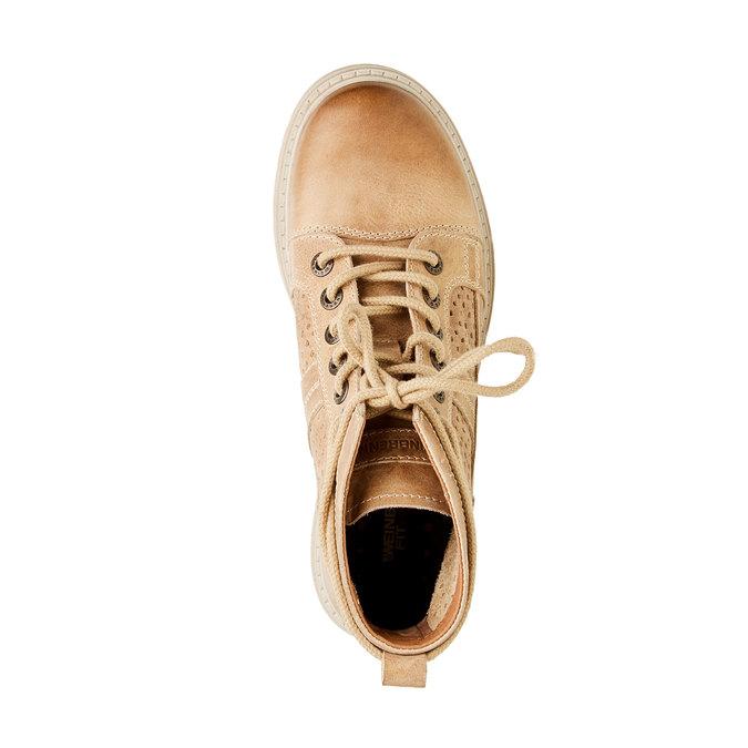 Kožené členkové topánky weinbrenner, hnedá, 594-4138 - 19