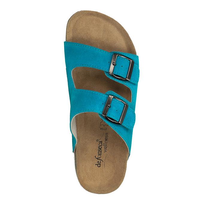 Dámske kožené papuče de-fonseca, 573-9620 - 19