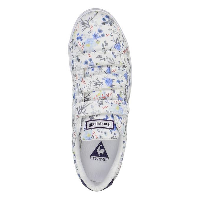 Dámske tenisky s kvetinovou potlačou le-coq-sportif, biela, 501-1401 - 19