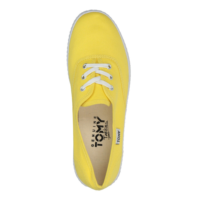 Žlté dámske tenisky tomy-takkies, žltá, 519-8691 - 19
