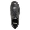 Kožené poltopánky s prešitím na špičke bata, čierna, 826-6640 - 19