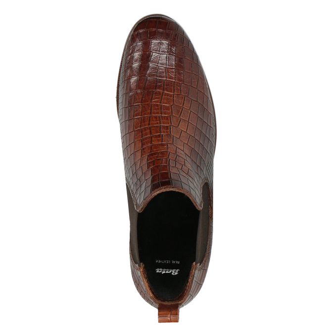Kožené Chelsea boots bata, hnedá, 596-4606 - 19