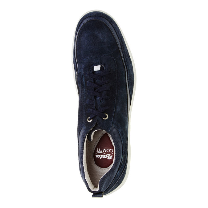 Ležérne kožené tenisky comfit, modrá, 843-9643 - 19