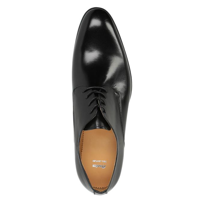 Pánske kožené poltopánky bata, čierna, 824-6648 - 19