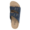 Kožená domáca obuv pánska de-fonseca, modrá, 873-9610 - 19