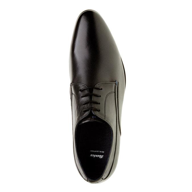 Pánske kožené poltopánky bata, čierna, 824-6663 - 19