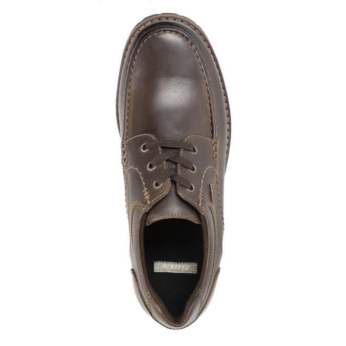 Kožené ležérne poltopánky bata, hnedá, 826-4640 - 19