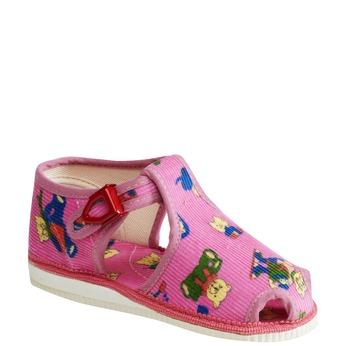 Detská domáca obuv bata, ružová, 179-5210 - 13