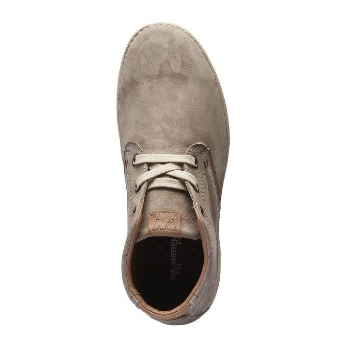 Kožená členková obuv weinbrenner, béžová, 896-2442 - 19