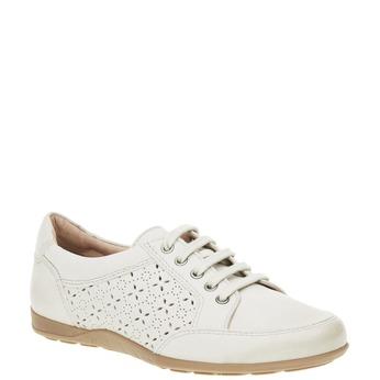Ležérne kožené tenisky bata, biela, 524-1511 - 13