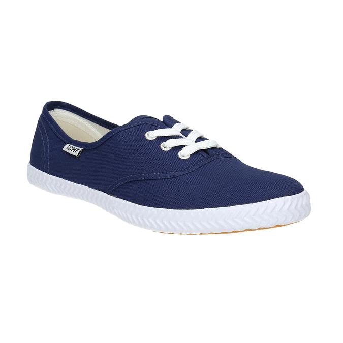Modré textilné tenisky tomy-takkies, modrá, 519-9691 - 13