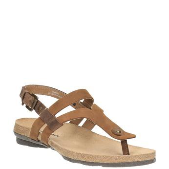 Dámske kožené sandále weinbrenner, hnedá, 566-4101 - 13