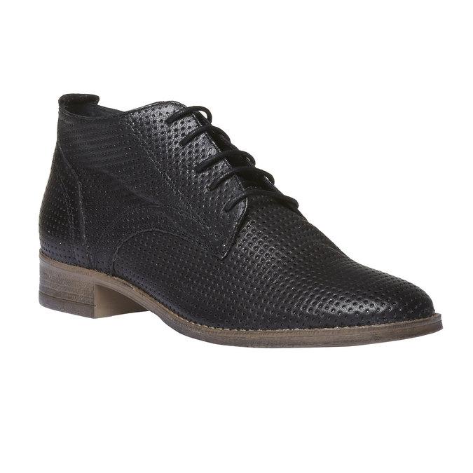 Dámske kožené členkové topánky bata, čierna, 524-6468 - 13