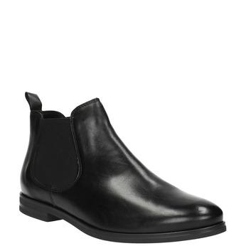 Kožená členková obuv Chelsea bata, čierna, 594-6604 - 13