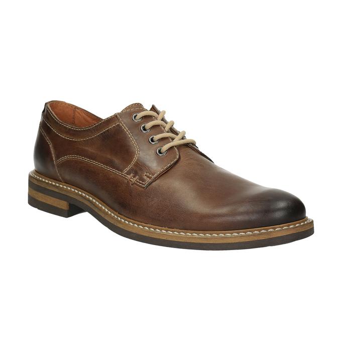 Neformálne kožené poltopánky bata, hnedá, 824-4654 - 13