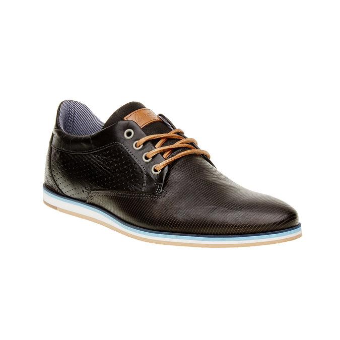 Ležérne kožené poltopánky bata, čierna, 824-6290 - 13