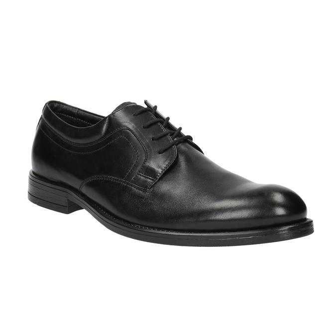 Kožené poltopánky s guľatou špičkou bata, čierna, 824-6657 - 13