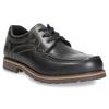 Kožené poltopánky s prešitím na špičke bata, čierna, 826-6640 - 13