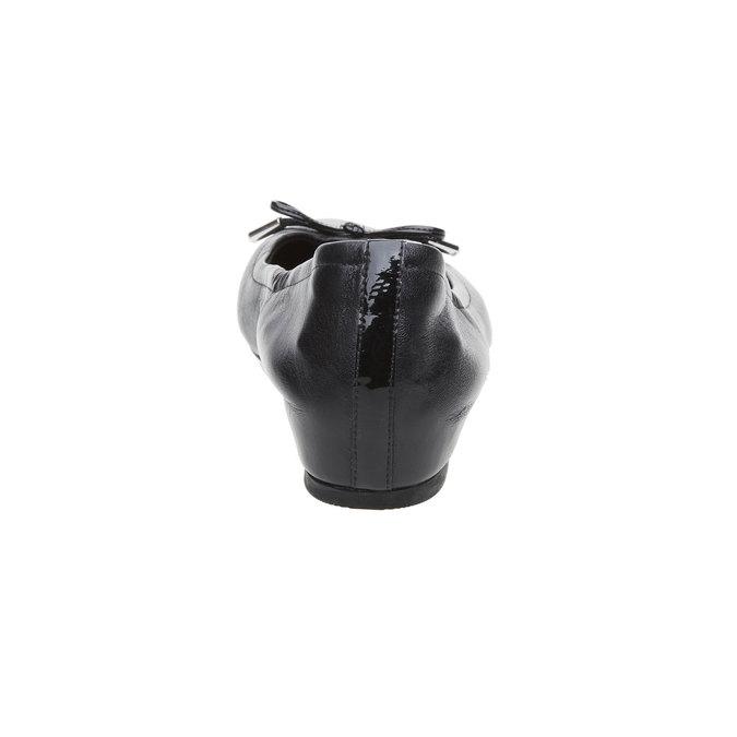 Čierne kožené baleríny rockport, čierna, 524-6121 - 17