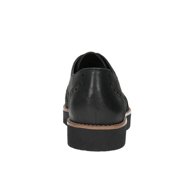 Dámske kožené poltopánky bata, čierna, 526-6600 - 17