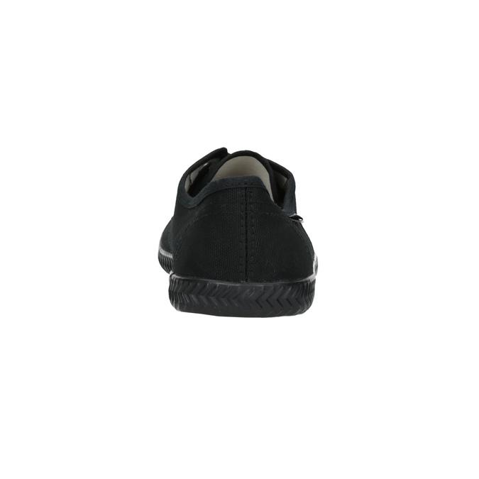 Čierne textilné tenisky tomy-takkies, čierna, 519-6691 - 17