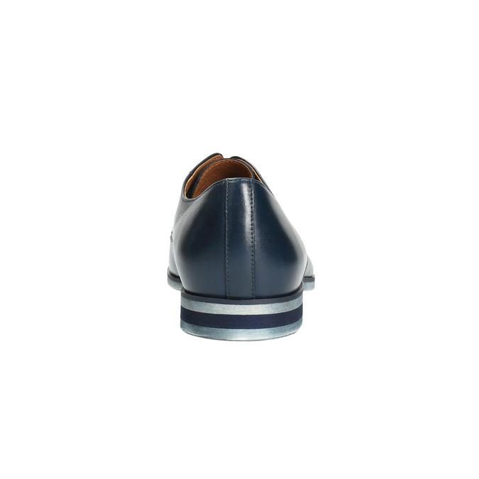 Modré kožené poltopánky conhpol, modrá, 824-9733 - 17
