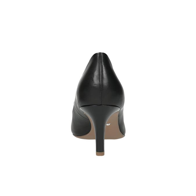 Čierne kožené lodičky s mäkkou stielkou bata, čierna, 624-6388 - 17