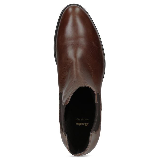 Kožená Chelsea obuv bata, hnedá, 594-4448 - 17