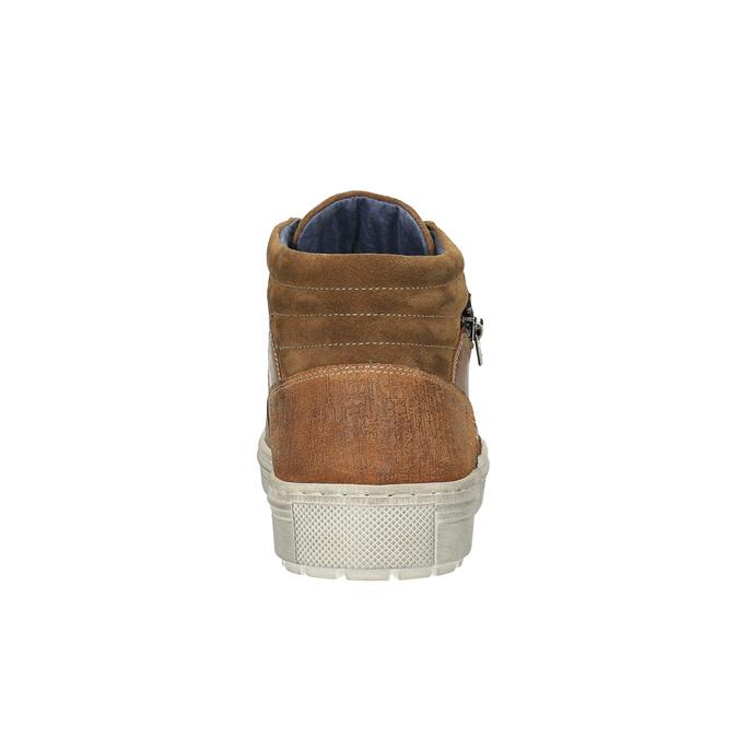 Pánske členkové tenisky bata, hnedá, 826-3650 - 17