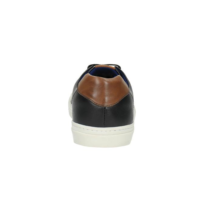 Pánske kožené tenisky bata, čierna, 844-6626 - 17