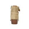 Dámska členková obuv z brúsenej kože bata, béžová, 693-1600 - 17