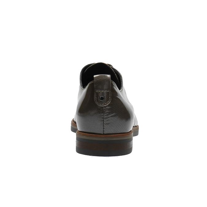 Dámske kožené poltopánky bata, hnedá, 528-2600 - 17