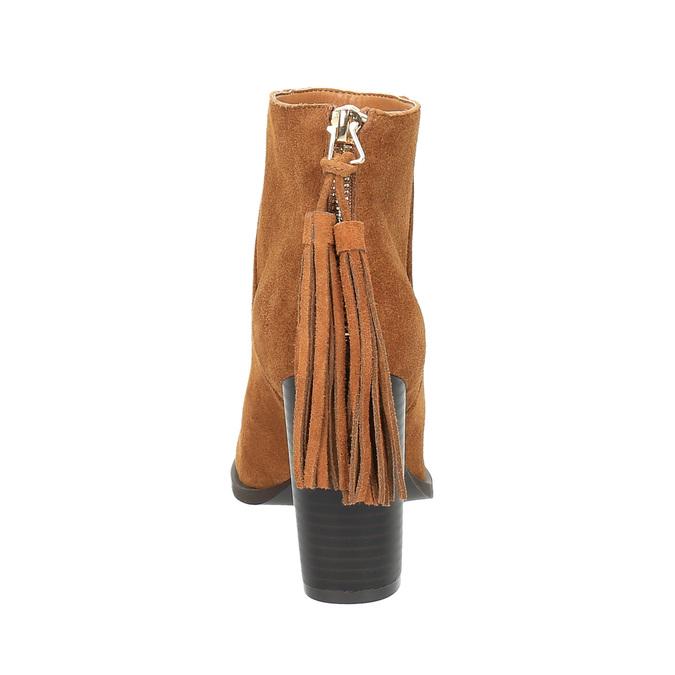 Kožené členkové čižmy so strapcom bata, hnedá, 793-4601 - 17