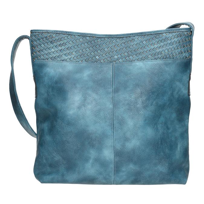 Priestorná modrá kabelka s dlhým uchom bata, modrá, 961-9600 - 19