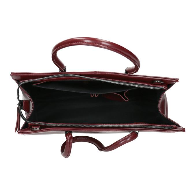 Červená kabelka s pevným dnom bata, červená, 961-5879 - 15