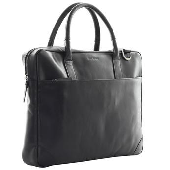 Kožená taška s popruhom royal-republiq, čierna, 964-6199 - 13