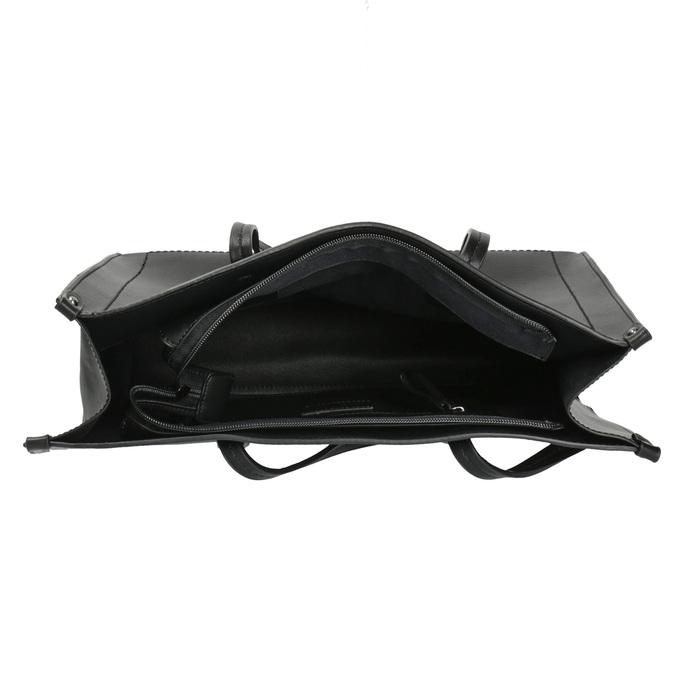 Hranatá kabelka v Shopper štýle bata, čierna, 961-6736 - 15