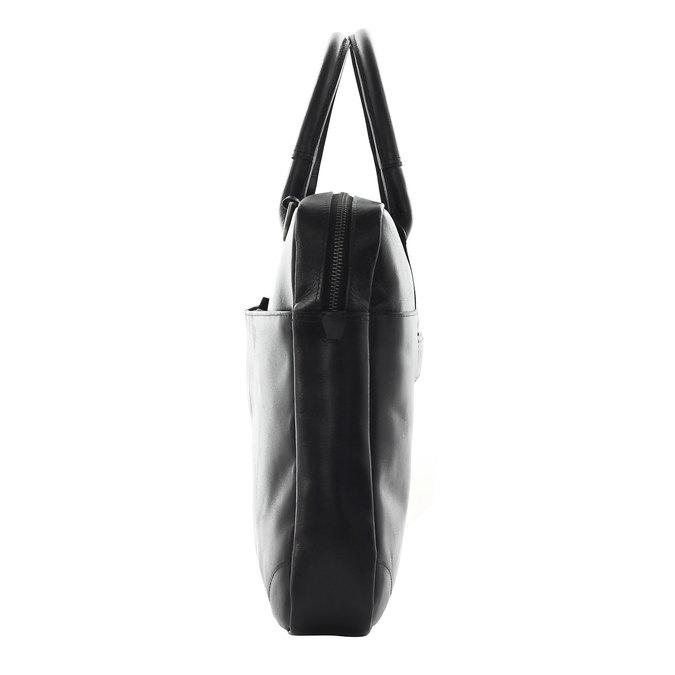 Kožená taška s popruhom royal-republiq, čierna, 964-6199 - 17