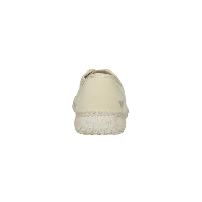 Ležérne kožené poltopánky weinbrenner, béžová, 526-8610 - 17