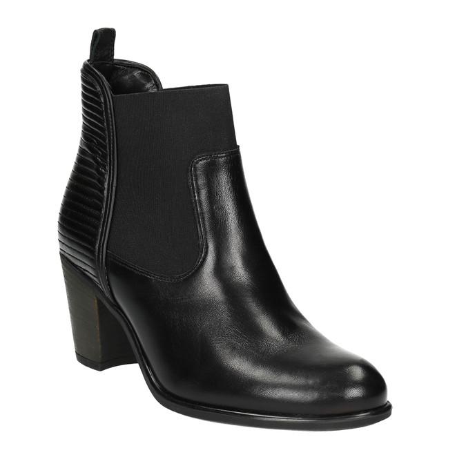 Dámska členková obuv s prešívaním bata, čierna, 694-6636 - 13