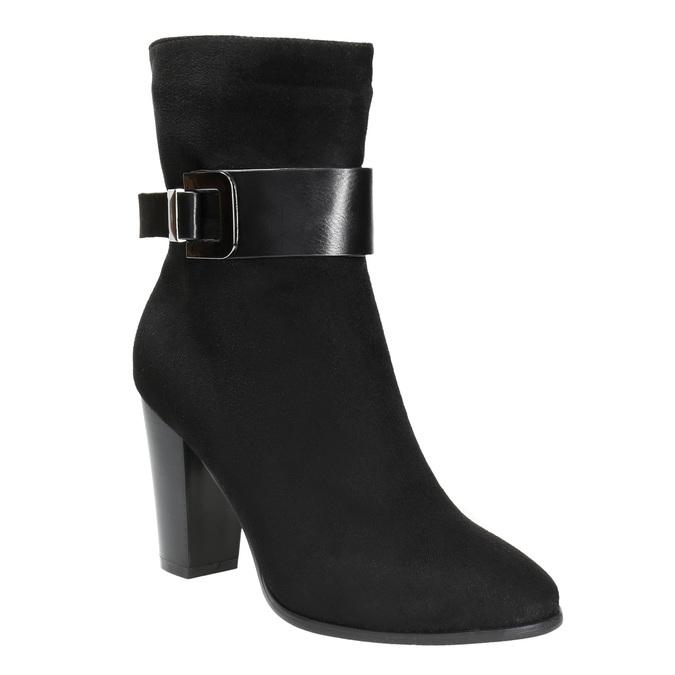 Dámska členková obuv s prackou bata, čierna, 699-6630 - 13