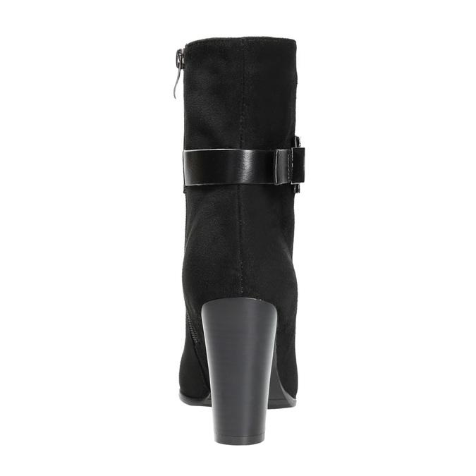 Dámska členková obuv s prackou bata, čierna, 699-6630 - 17