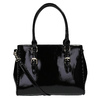 Čierna kabelka v lakovanej úprave bata, čierna, 961-6619 - 26