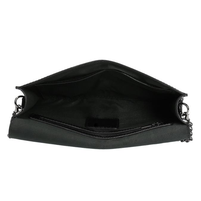 Čierna dámska listová kabelka v lakovanej úprave bata, čierna, 961-6624 - 15