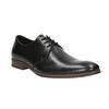 Čierne kožené poltopánky s ležérnou podrážkou bata, čierna, 824-6679 - 13