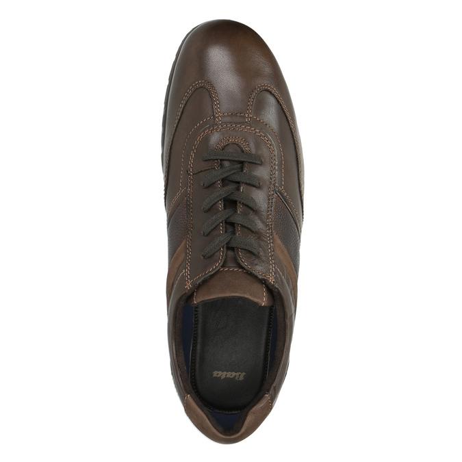 Ležérne kožené poltopánky bata, hnedá, 826-4652 - 19