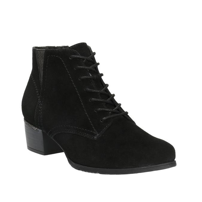Dámska členková obuv bata, čierna, 693-6601 - 13