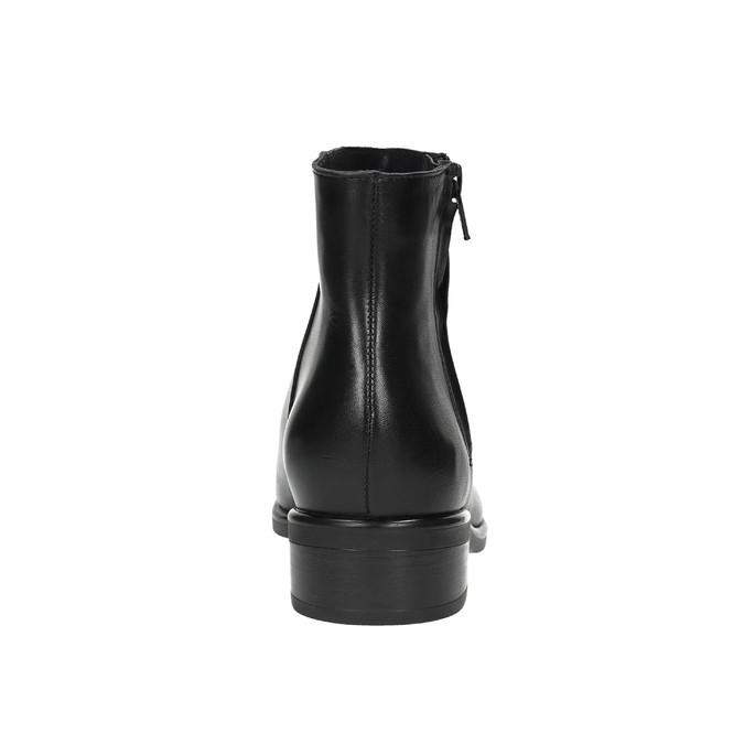 Kožená členková obuv so zipsom čierna bata, čierna, 594-6518 - 17