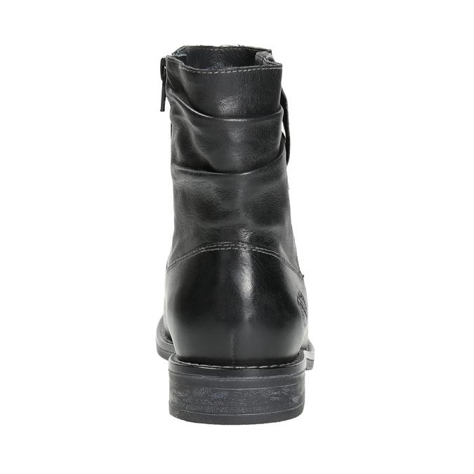 Dámska kožená členková obuv bata, čierna, 594-6611 - 17